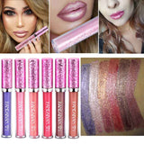 2017 New Glitter Lip Gloss Makeup Pigment Gold Nude Lipgloss Shimmer Metallic Liquid Lipstick Lip Gloss - On Trends Avenue