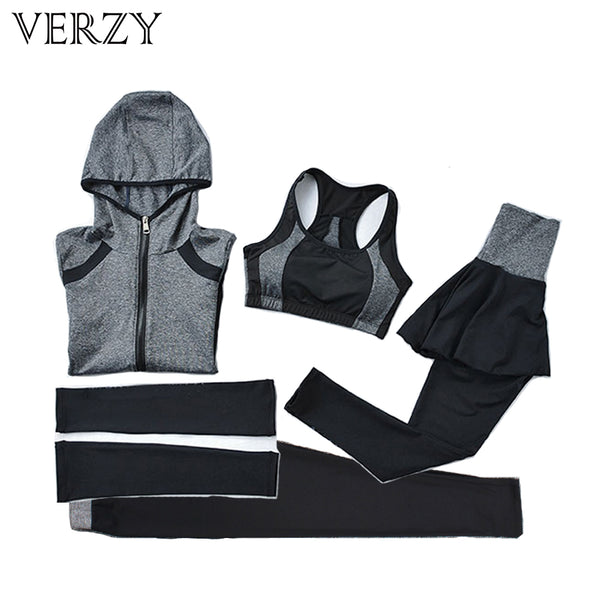 2017 Plus Size Jogging Suits For Women Yoga Set Elastic Tights Absorbent Breathable Yoga Pantskirts Young Girls' Sports Suit - On Trends Avenue