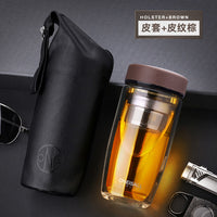 High Quality Double Walled Glass Mug Coffee Tea Mug Cups My Bottle for Water Tumbler Glass Water Bottle Cups with tea Infuser - On Trends Avenue