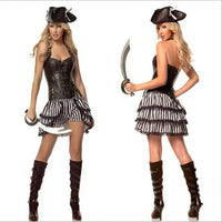 2017 Sexy Women female Pirate Costume Halloween Fancy Party Dress Carnival Performance Adult Pirate Cosplay Costum - On Trends Avenue