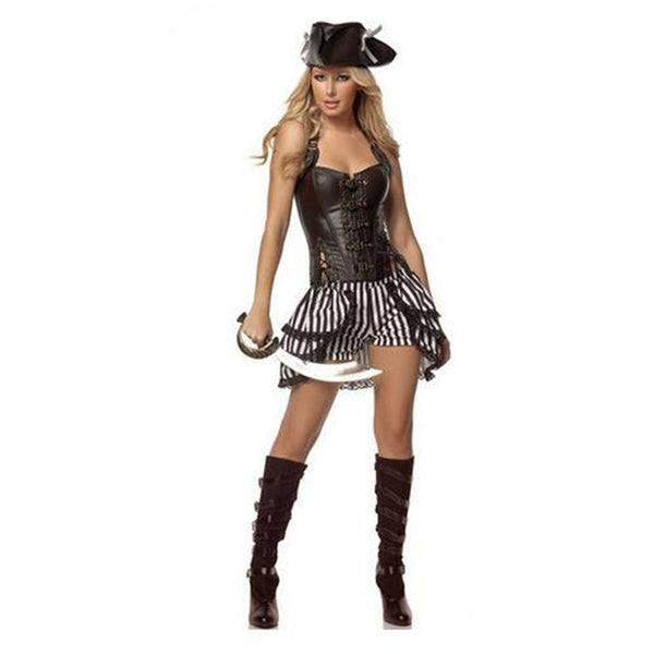 2017 Sexy Women female Pirate Costume Halloween Fancy Party Dress Carnival Performance Adult Pirate Cosplay Costum  sc 1 st  On Trends Avenue & 2017 Sexy Women female Pirate Costume Halloween Fancy Party Dress ...