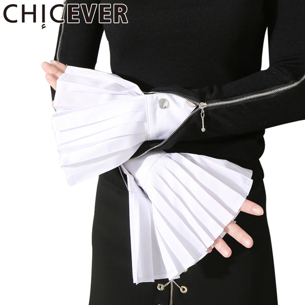 [CHICEVER] Spring The Organ Cuff Pleated Horn Cuffs Women New Fashion Clothing - On Trends Avenue