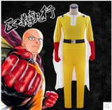 Adult Halloween Costume Anime One Punch Man Saitama Cosplay Costumes Jumpsuit Set (Jumpsuit + Cloak + Waistband + Gloves) - On Trends Avenue