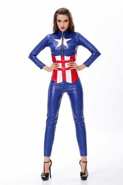 Adult Halloween costumes women Captain America The Avengers women warrior cosplay suit DS Costume - On Trends Avenue