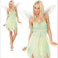 halloween costumes adult women the wizard of oz green forest woodland elf fairy costume tinkerbell garden