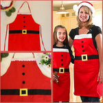 Christmas Decoration Apron Kitchen Aprons Christmas Dinner Party Apron Santa Christmas Kitchen Apron - On Trends Avenue