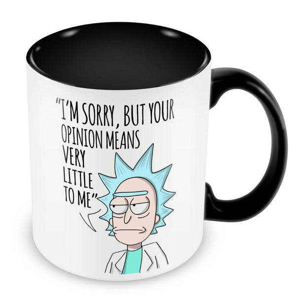 Rick and Morty Mugs inner black travel cup beer cup ceramic coffee mug tea cups friend gifts home decor porcelain cups - On Trends Avenue