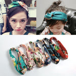 Headbands Women Hair Accesorries Girl Head band Floral Print Silk Satin fabric Hairbands Elastic Cross Turban Promotion