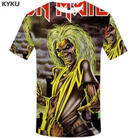KYKU Brand iron maiden shirt band men T shirt music T-shirt Skull Tshirt Gothic Tops Rock clothes motorcycle clothing Punk - On Trends Avenue