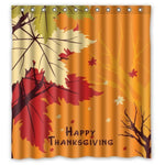 Happy Thanksgiving day Custom Bathroom Curtain Shower Curtains Woman Shadow Shower Curtain Waterproof Polyester Fabric - On Trends Avenue