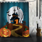 Halloween Pumpkin 01 Shower Curtain Christmas Decorations For Home Waterproof Fabric Curtain Shower Bath Curtain Bathroom A9.4 - On Trends Avenue