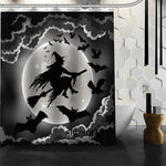 Halloween Bats 04 Shower Curtain Christmas Decorations For Home Waterproof Fabric Curtain Shower Bath Curtain Bathroom A9.4 - On Trends Avenue