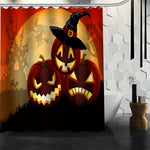 Happy Halloween Pumpkin Shower Curtain Christmas Decorations For Home Waterproof Fabric Curtain Shower Bath Curtain A9.4 - On Trends Avenue