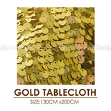 [PGP] Gold & Black Party Set, Balloons Medallions Honeycomb Tablecloth, for New year eve Hen Engagement Wedding Stag Decoration - On Trends Avenue