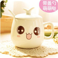 320ml Creative Cute Expression Ceramic Coffee Mugs Juice Milk Tea Cups and Mugs Kawaii Porcelain Mugs Drinkware Unique Gifts - On Trends Avenue