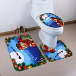 Home Christmas Toilet Foot Pad Seat Cover Radiator Cap Bathroom Sets ping aug31 - On Trends Avenue