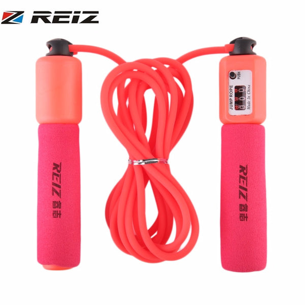 REIZ Professional Skipping Jump Rope Adjustable Plastic Handle Bearing Speed Fitness Accessories Electronic Counting Jump Rope - On Trends Avenue