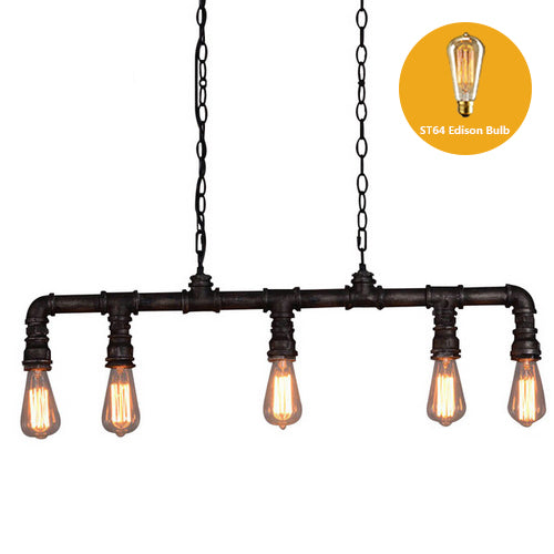 Loft Pedant lamp retro industrial wind personality water pipe hang cafe restaurant bar clothing store decorative pendant light - On Trends Avenue
