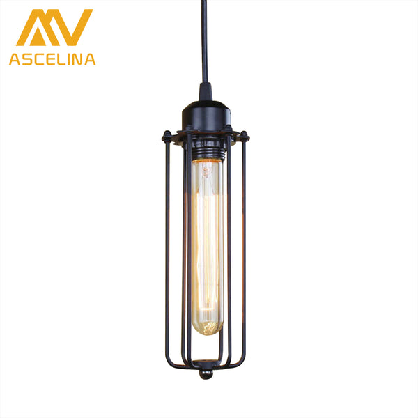 ASCELINA American Retro Loft Pendant lights Industrial Style led lamp Home lighting Bar Restaurant Cafe E27 Light Wrought Iron - On Trends Avenue