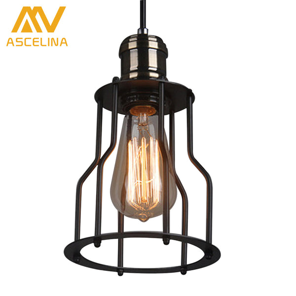 Simple American country Retro Retro Iron Chandelier Industrial Wind Chandelier Dining Room Fixtures Black Copper chandelier Iron - On Trends Avenue
