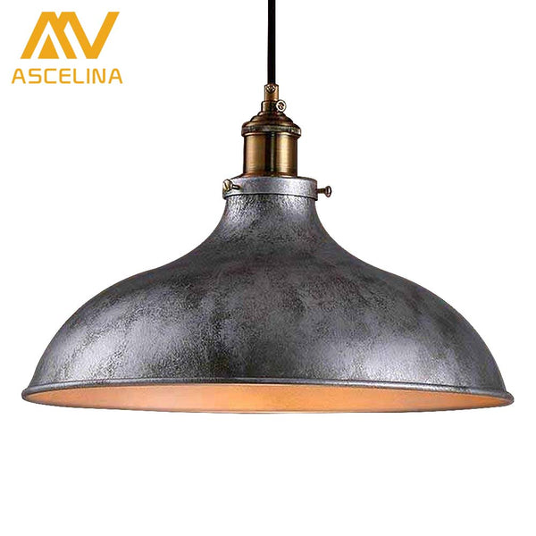 loft creative retro restaurant bar American country style wrought iron balconies industry pendant lamp Single head pendant lamp - On Trends Avenue