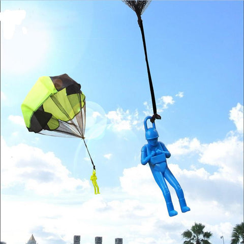 Hand Throwing parachutes Kite kids mini play parachute soldier toy Children's Educational Toys Kites - On Trends Avenue