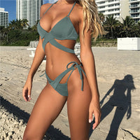 Femme Plus Size Bikinis Micro Push Up Bikini Brazilian Sexy Bandage Beach Swimwear Ladies Swimsuit Bathing Suit Maillot De Bain