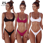 2018 Retro Sexy Biquini Micro Thong Swim Bathing Suit High Cut Swimsuit Plus Size Swimwear Women Brazilian Push Up Bikini XXL