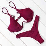 OMKAGI Brand Brazilian Bikini 2018 Swimwear Women Swimsuit Sexy Push Up Underwire Swimming Bathing Suit Beachwear Bikinis Set