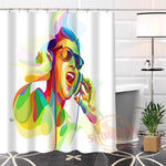100% Polyester Custom Popular musical note Fabric Modern Shower Curtain bathroom Waterproof New arrival
