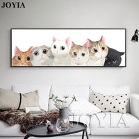 Lovely Kitten Wall Painting Kids Room Bedside Decor Large Wall Picture Home Bedroom Cats Canvas Prints Living Room Decoration