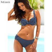 Bikini Set 2018 Push Up Swimwear Women Retro Swimsuit Solid Plus Size Swimwear Vintage Bikinis Women Biquini Bathing Suit M-XXXL