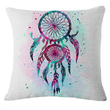 Hot Selling Dreamcatcher Cushion Cover Plumas Printed Pillow Cover Car Sofa Chair Home Decorative Throw Pillow Case SMC1736T-90