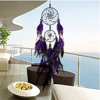 Home Decor Antique Imitation Enchanted Forest Dreamcatcher Gift Handmade Dream Catcher Net With Feathers Wall Hanging Decor