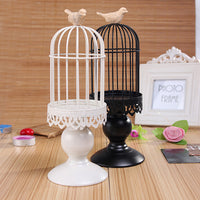 12 in Iron Candle Holder Factory Sales Europe Birdcage Lantern Continental Iron Candle Holders Wedding Home Candlestick