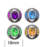 High quality 009 3D 18mm 20mm rhinestone metal snap button for Bracelet Necklace Jewelry For Women Fashion accessorie