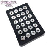 LUWELLEVER jewelry 8 colors 24pcs PU leather 12mm 18mm Metal Snap Button display board watche women one direction