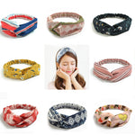 Women Hair Accessories Turban flower Headbands Floral Prints Bandanas hairband famale Elastic Hair Bands Gum Hair for Girls