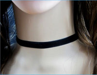 Harajuku 90's Black Velvet Choker Necklace Goth Gothic Handmade Handmade Retro Burlesque - On Trends Avenue