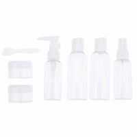 6-in-1 Portable Transparent Makeup Lotion Bottle - On Trends Avenue