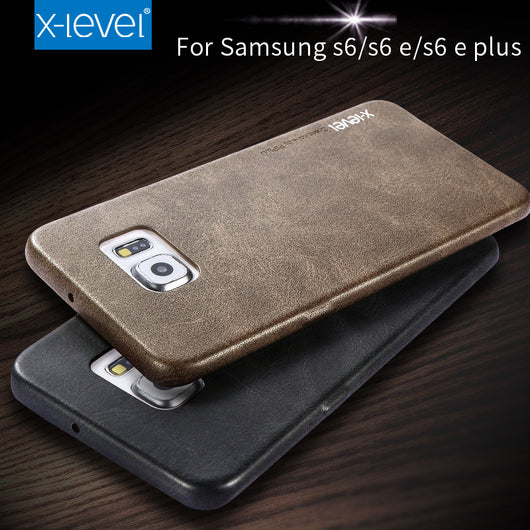 X-Level Leather Phone Case For Samsung Galaxy S6 S6 edge S6 edge plus Ultra thin PU Back case For Samsung S6 edge plus - On Trends Avenue