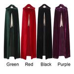 Adult Witch Long Purple Green Red Black Halloween Cloaks Hood and Capes Halloween Costumes for Women Men - On Trends Avenue