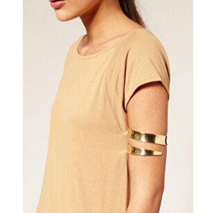 fashion jewelry Latest upper arm bracelet & bangle cuff gold and silver color Iron wire available for women - On Trends Avenue