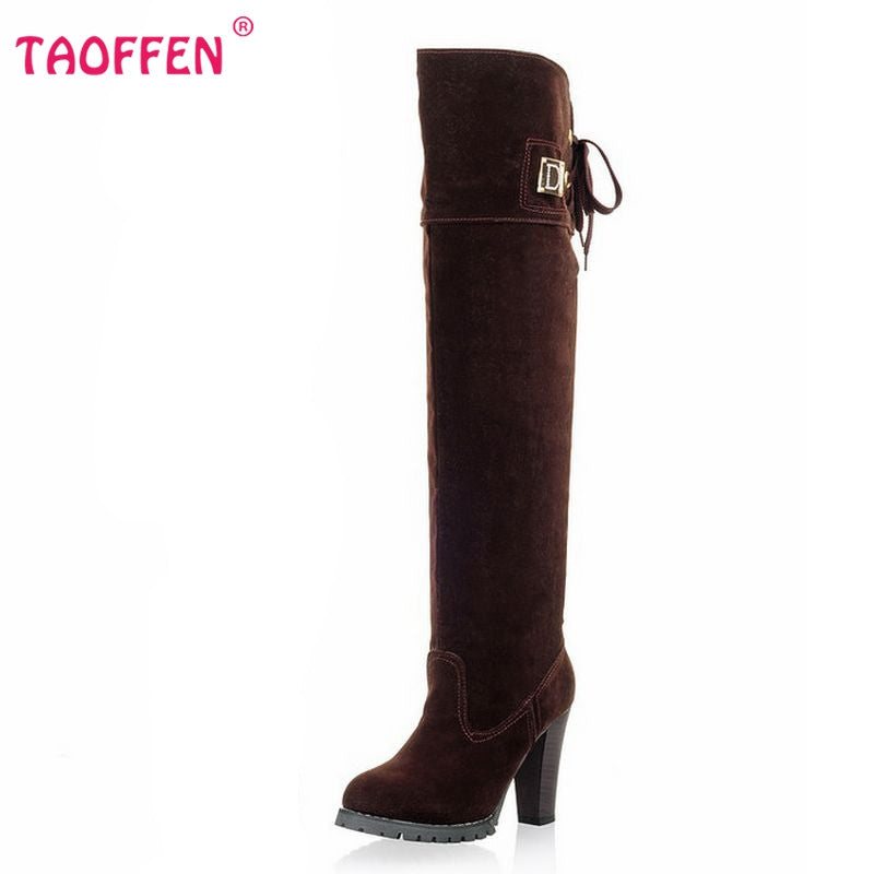Women Over Knee Boots Women Fashion Long Boot Winter Footwear High Heel Shoes Sexy Snow Warm P7909 EUR Size 34-43 - On Trends Avenue