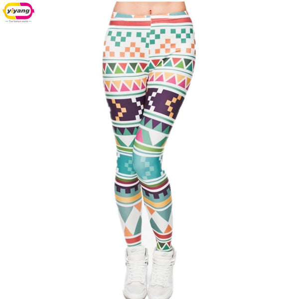 New Fashion 3D Print High Quality Women Leggings Plus Size Geometric patterns - On Trends Avenue