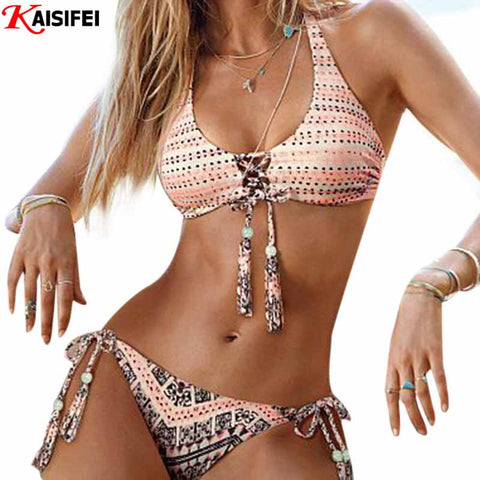 2016 New Handmade Crochet Bikinis Women Swimsuit Push Up Swimwear female Sexy Brazilian Bikini Set Beach Wear Bathing Suit XL - On Trends Avenue