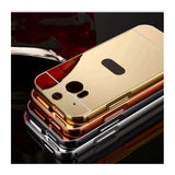 Mirror cover For HTC One M8 M9 E9 plus A9 cases Plating Metal frame+PC back cover case For HTC Desire 826 816 626 820 728 620 - On Trends Avenue