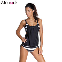 Available in Large Sizes hot sale women Stripes swimwear push up Tankini Top maillot de bain bathing suit swimsuit plus size shorts bikinis 41990 - On Trends Avenue