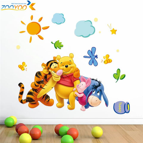 Winnie the Pooh friends wall stickers for kids rooms zooyoo2006 decorative sticker adesivo de parede removable pvc wall decal - On Trends Avenue