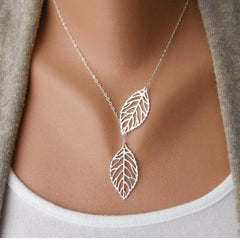 Hot Fashion Gold Silver Plated Chain Necklace Leaf Casual Beads Long Strip Pendants Gifts Women Necklaces Jewelry jl50 - On Trends Avenue